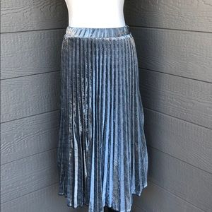 Love In Silver Metallic Skirt